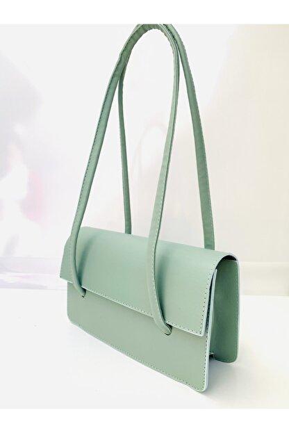 Göray Fashıon Loxxa Iki Saplı Yeşil Kadın Baguette Çanta