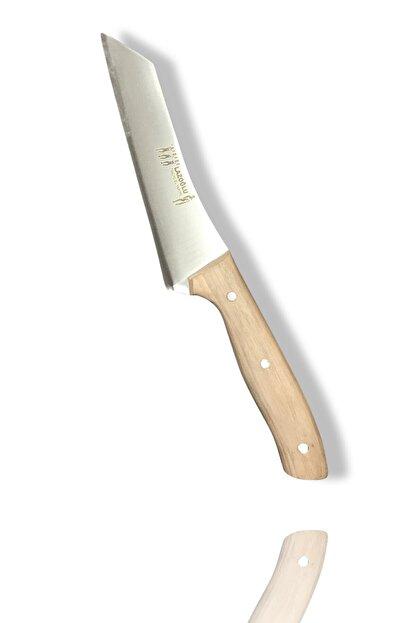 Lazoğlu Sürmene El Yapımı Dövme Çelik Santoku Süper Bilezikli Şef Aşçı Bıçağı