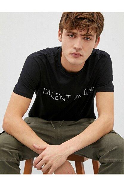 Koton Erkek T-shirt Siyah 1yam11931ck