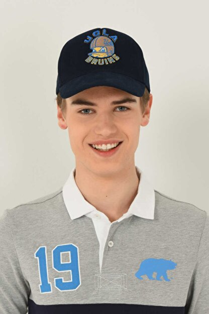 Ucla Anselmo Lacivert Baseball Cap Nakışlı Şapka