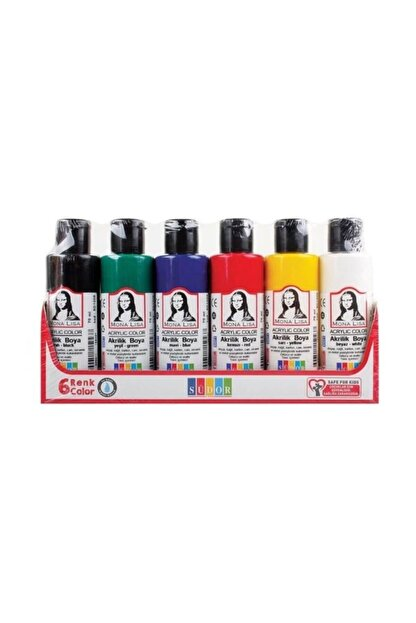 Südor Mona Lisa Akrilik Boya 6 Renk X 70 Ml Şişe
