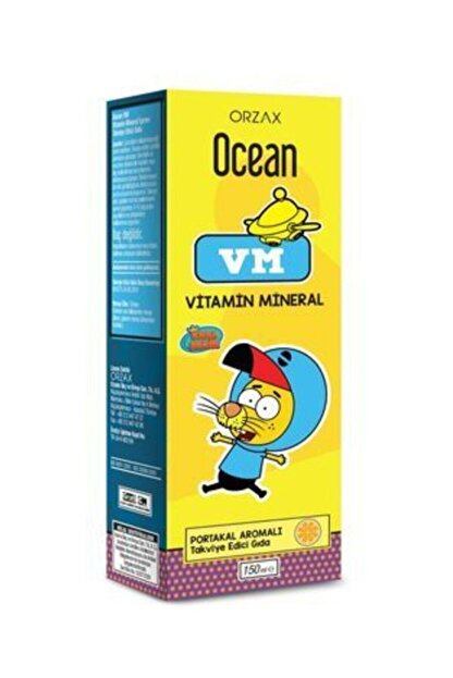 Orzax Ocean Portakallı Mineralli Multivitamin 150 ml