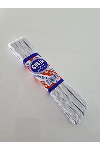 Dudo Baby Beyaz Bel Paça Don Lastiği Yassı Geniş Lastik 10 M Lateks Ürün No 3