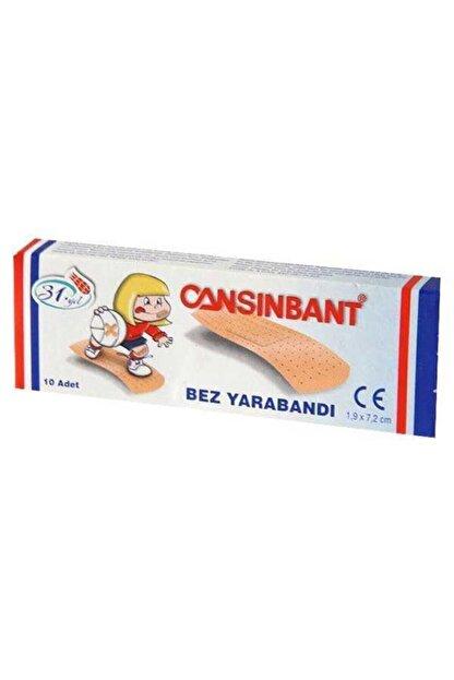 CANSIN BANT Cansınbant Bez Yarabandı 10'lu 10 Paket (100 Adet)