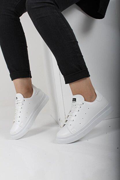 Oksit Liven Kalın Taban Kadın Spor Ayakkabı