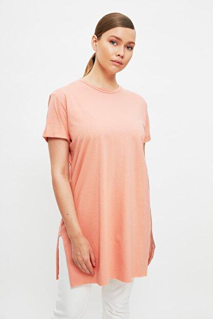 Trendyol Modest Somon Baskılı Tunik T-shirt TCTSS21TN0056