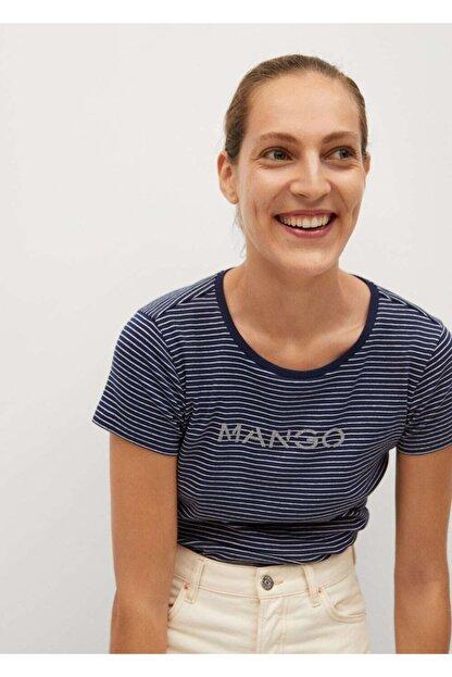 Mango Organik Pamuklu Logolu Tişört