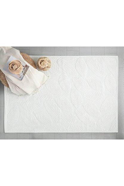 English Home Leafy Pamuklu Kilim 60x100 Cm Beyaz