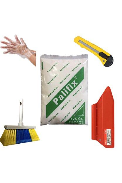 Palifix 5'li Set 125 gram Yapıştırıcı Duvar Kağıdı Uygulama Seti Yapıştırıcısı Tutkalı Glitolin