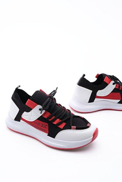 Marjin Kadın Streç Sneaker Spor Ayakkabı Felyabeyaz