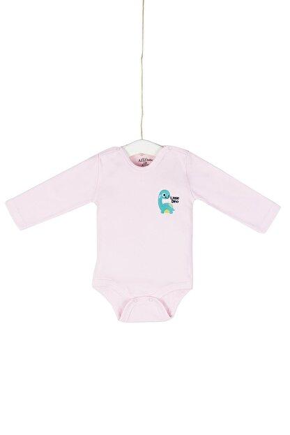 Aziz Bebe Bebek Nakışlı Çıtçıtlı Body 0-12 Ay Azz001740