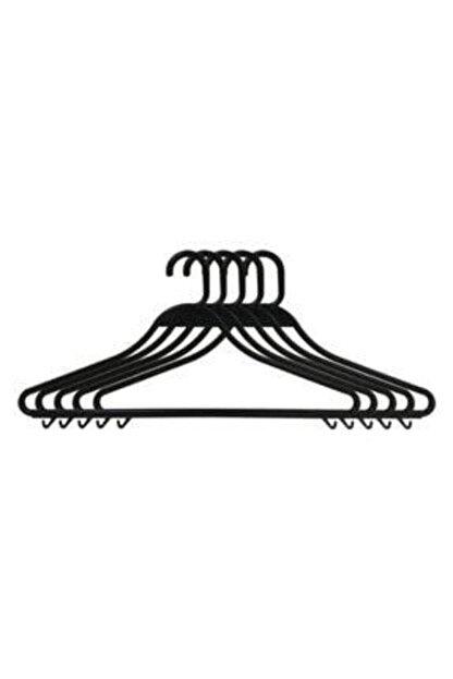 Askıcı Kıyafet Askısı Plastik Kırılmaz Siyah 50 Adet