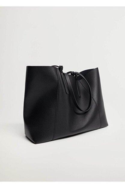 Mango Kadın Pürtüklü Shopper Çanta