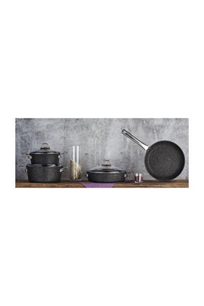 Falez Black Line Granit Set 7 Parça Siyah