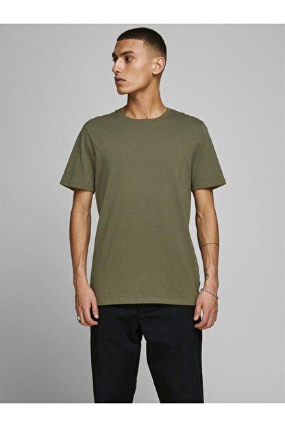 Jack & Jones Jjeorganıc Basıc Tee Ss O Yeşil Erkek Kısa Kol T-shirt