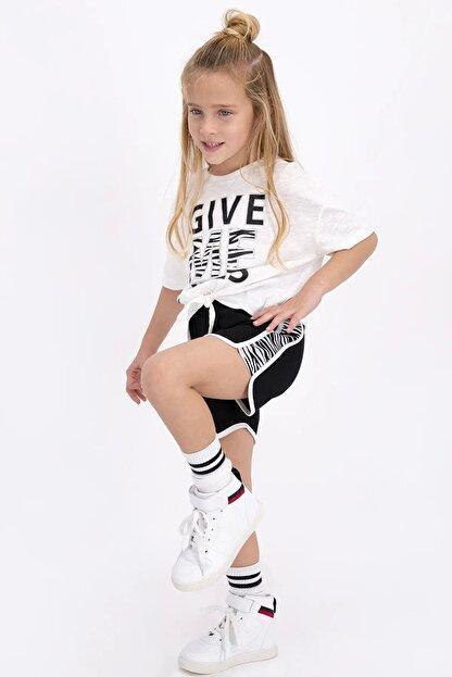 Rolypoly Kız Çocuk Krem Şort Takım
