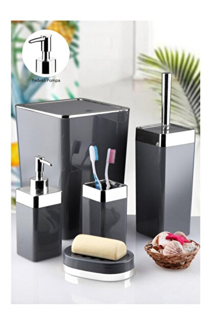İmera Akrilik 5 Parça Kare Banyo Seti