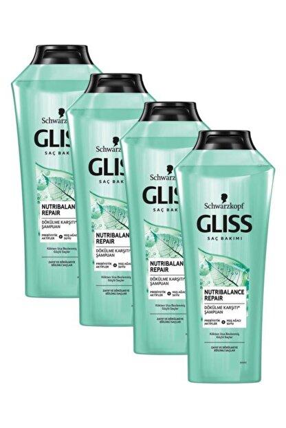 Gliss Nutribalance Repair Saç Dökülmesi Karşıtı Şampuan 360 ml 4'lü