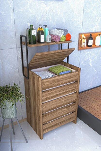 Ankaflex Ahşap Banyo Rafı Dekoratif Köşe Duş Rafı Şampuanlık Banyo Düzenleyici Organizer