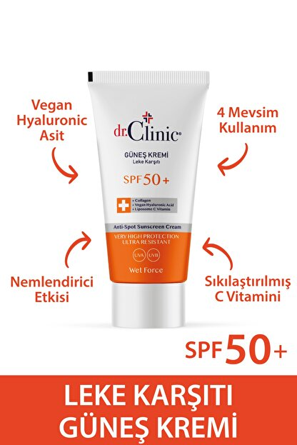 Dr. Clinic Güneş Koruyucu Krem Leke Karşıtı Spf 50 (50 ML)