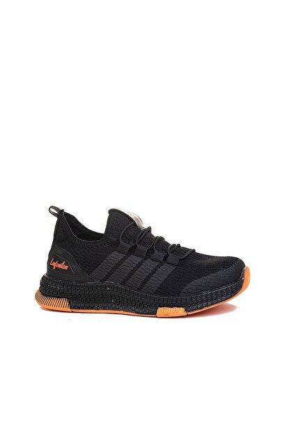 N Drops Unisex Çocuk Siyah Turuncu Spor Ayakkabı