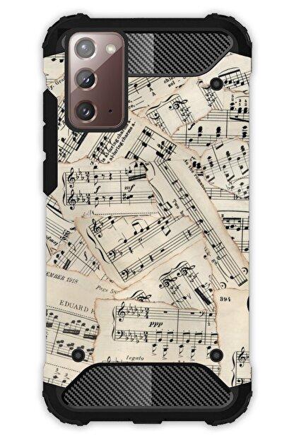 Cekuonline Samsung Galaxy Note 20 Kılıf Desenli Antishock Crash Kapak - Beste Nota