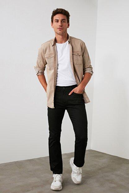TRENDYOL MAN Siyah Erkek Straight Jeans TMNAW20JE0002