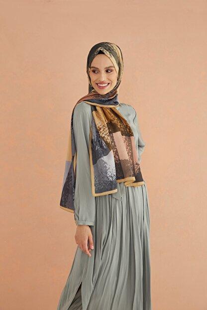 Cardion Kadın Camel Desenli Medine Şal 190x80 cm