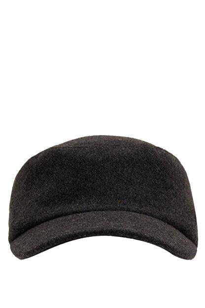 Defacto Erkek Antra Melange Kışlık Şapka L8262AZ20WN
