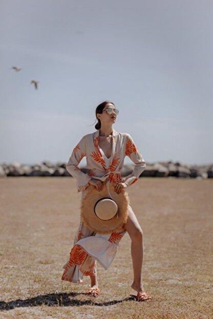 La Fontaine Kadın Desenli Kimono