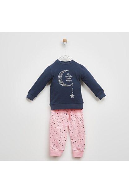 Panço Kız Çocuk Pembe Baskılı Pijama Takımı 2021gk39006