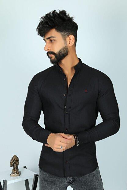 JİYAN Erkek Siyah Uzun Kollu Gömlek