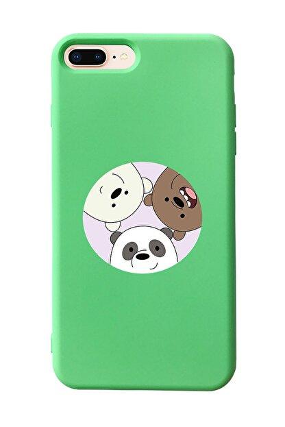 Mupity Kafadar Ayılar Tasarımlı Yeşil Lansman Kılıf Iphone 7-8 Plus