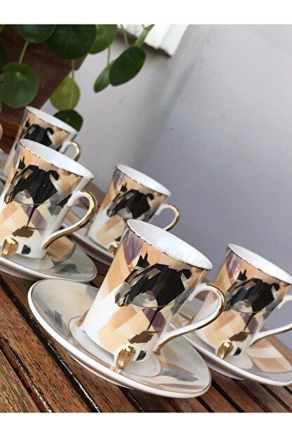 Perotti Ayaklı 6 Kişilik Kahve Fincan Seti