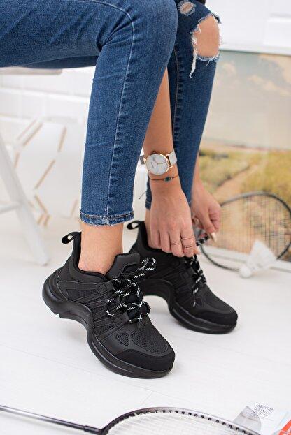 meyra'nın ayakkabıları Siyah Spor Ayakakbı