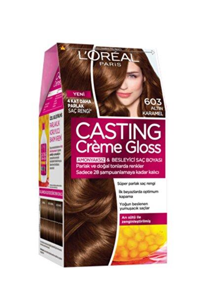 L'Oreal Paris Casting Creme Gloss Saç Boyası 603 Altın Karamel