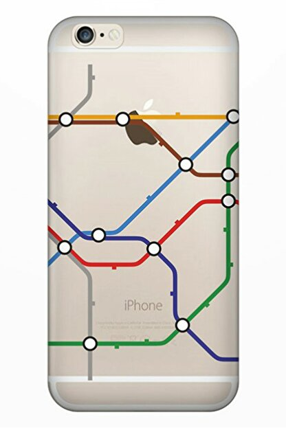 Cekuonline Iphone 6 6s Tıpalı Kamera Korumalı Silikon Kılıf - Metropol
