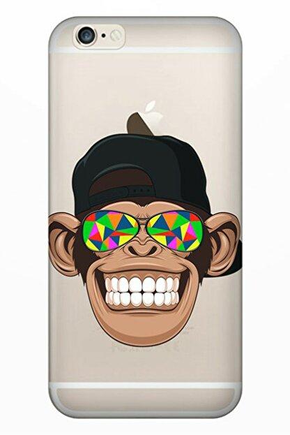 Cekuonline Iphone 6 6s Tıpalı Kamera Korumalı Silikon Kılıf - Cool Maymun