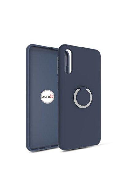 Pickcase Gramaphone Galaxy A30s Kılıf Yüzüklü Ve Standlı Esnek Arka Silikon Kapak Lacivert