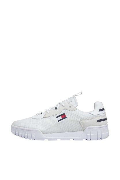 Tommy Hilfiger Erkek Retor Mesh Beyaz Sneaker EM0EM00398