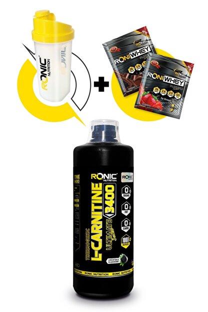 Ronic Nutrition L-Carnitine 3400 Ultimate Thermogenic 1000ml Böğürtlen Aromalı Yağ Yakıcı+Shaker