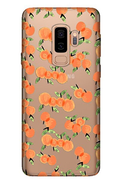 Cekuonline Samsung Galaxy S9 Plus Tıpalı Kamera Korumalı Silikon Kılıf - Portakal