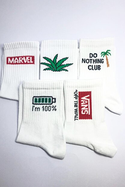MEFA MARKET 5'li Kokulu Pamuk Uzun Çorap