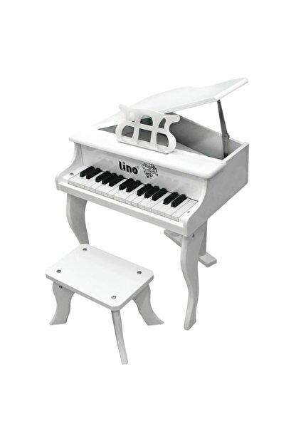 Lino Ahşap 30 Tuşlu Kuyruklu Beyaz Piyano
