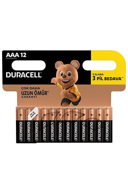 Duracell Pil Aaa İnce Kalem 12Li (9+3)
