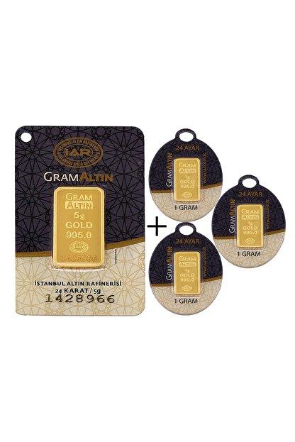Tuğrul Kuyumculuk 8 Gram (5+3) Külçe Gram Altın IAR 24 Ayar K00008