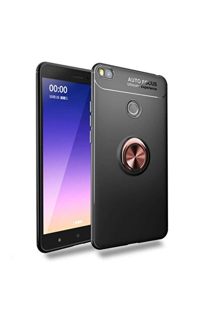 Dijimedia Xiaomi Mi Max 2 Yüzüklü Standlı Karbon Silikon Tasarım Kılıf