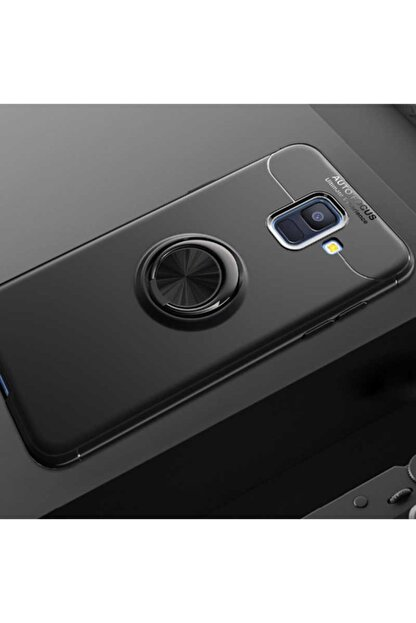 Dijimedia Samsung Galaxy J6  Kılıf Yüzüklü Standlı Araç Magnet Tutucu Destekli Kapak