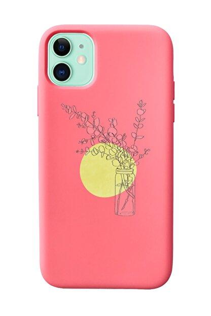 Mupity Pastel Ay Tasarımlı Pudra Lansman Kılıf Iphone 11