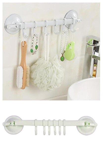 Hayveys Vantuzlu 6 Kancalı Mutfak Ve Banyo Askısı Havluluk